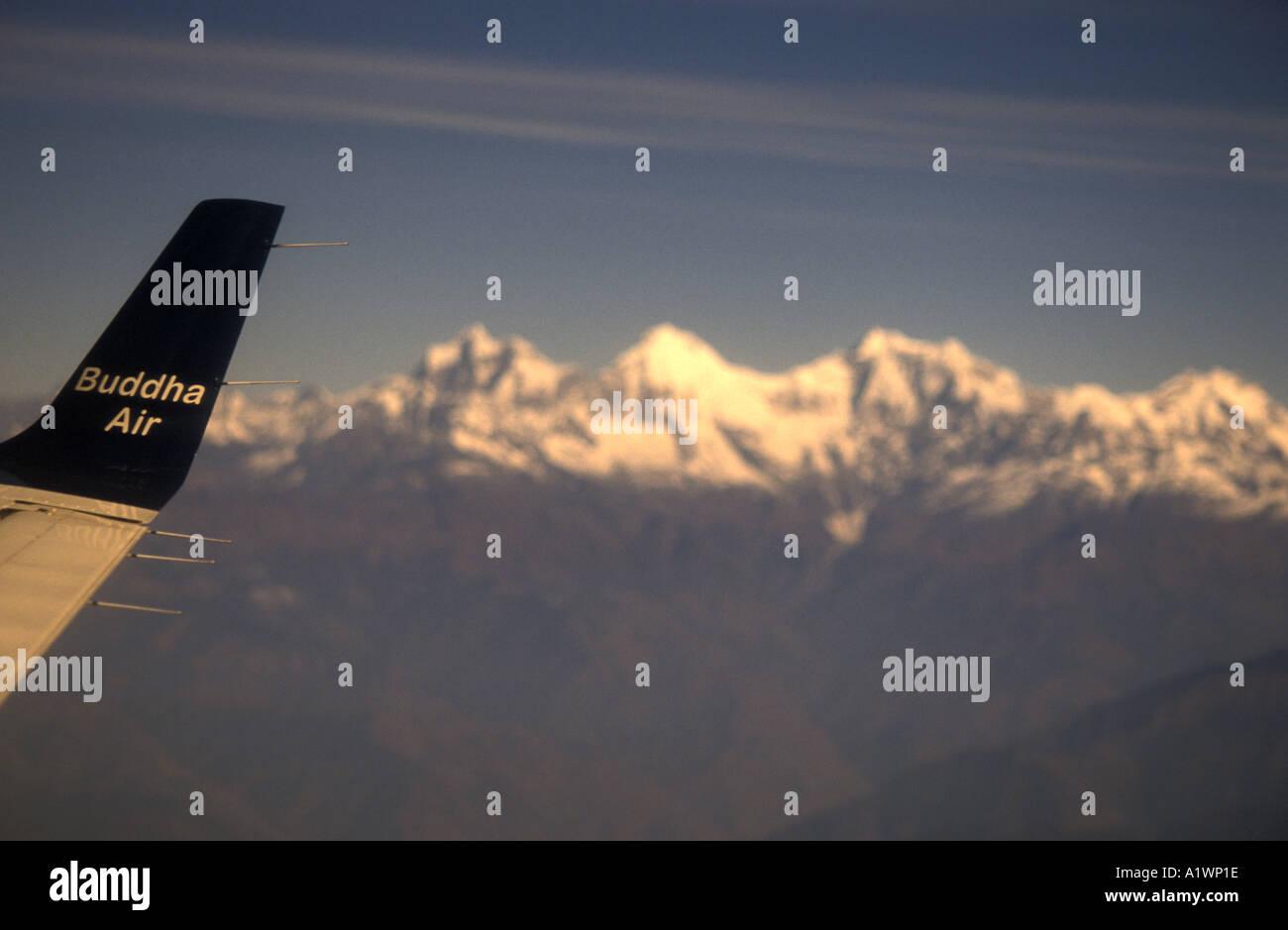 Flying from Katmandhu to Pokara,Nepal. November 2002 - Stock Image