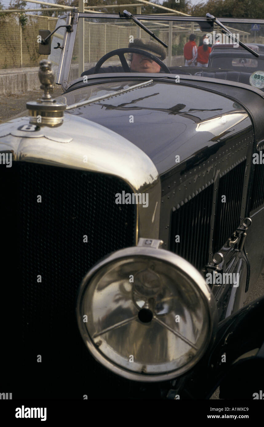 VETERAN CAR RACE SICILY HUMPHRY AVON ASLEEP AT THE WHEEL OF HIS BENTLEY TOURER 6 5L MOUNT ETNA - Stock Image
