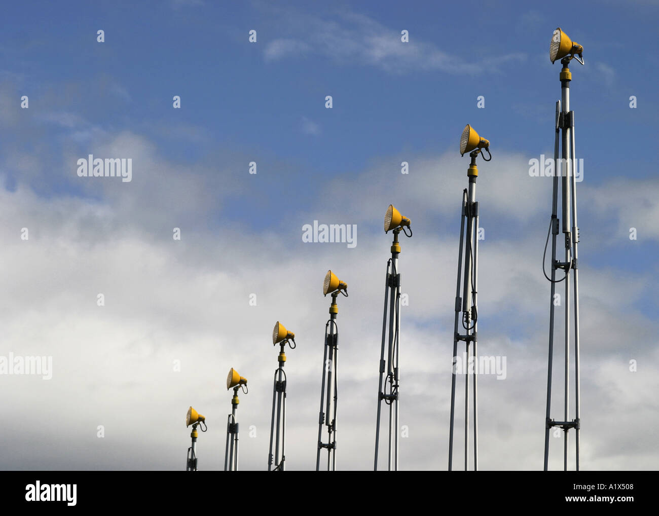 aerial navigation lights aeronautics flight - Stock Image
