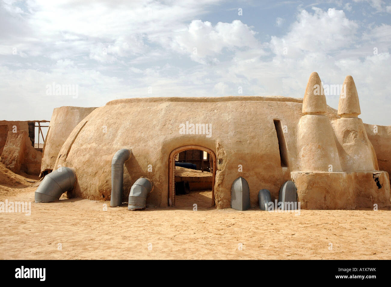 Remains Of George Lucas Star Wars Movie Set On Sahara Desert In Stock Photo Alamy