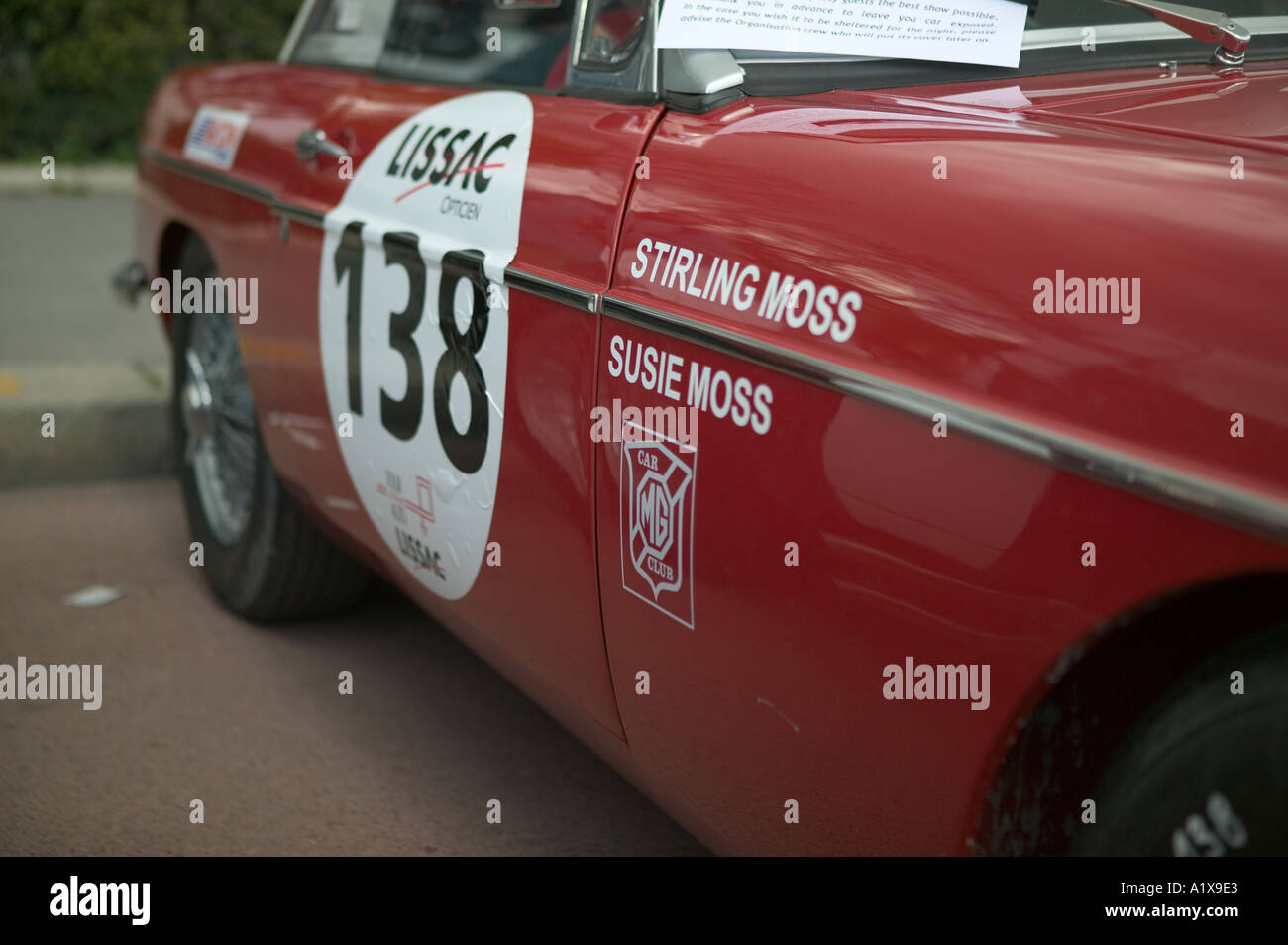 Car used by legendary race driver Stirling Moss in the Tour de ...