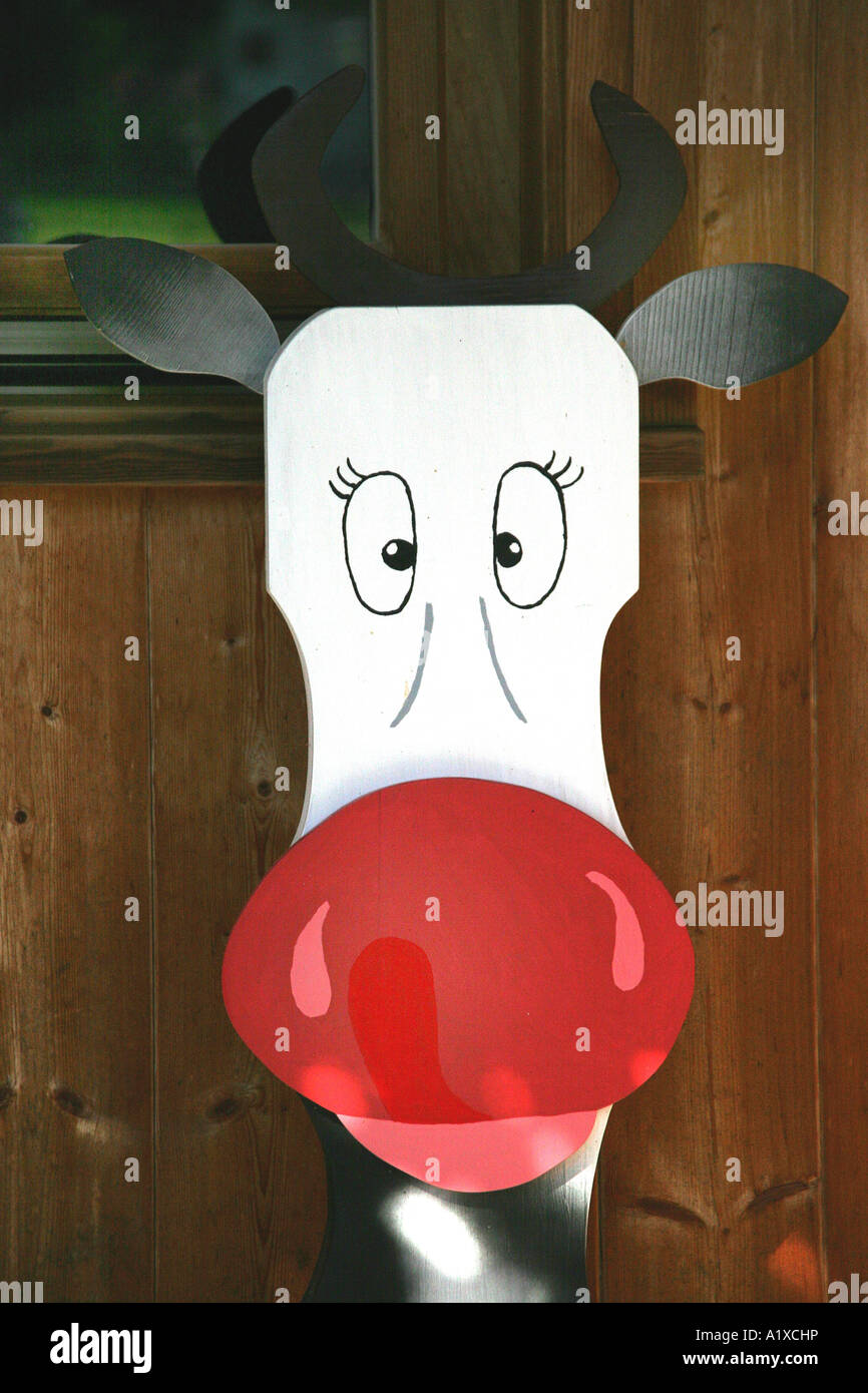 cow for a decoration - Stock Image