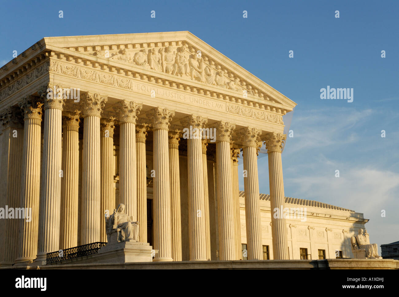 United States U.S. supreme court building - Stock Image
