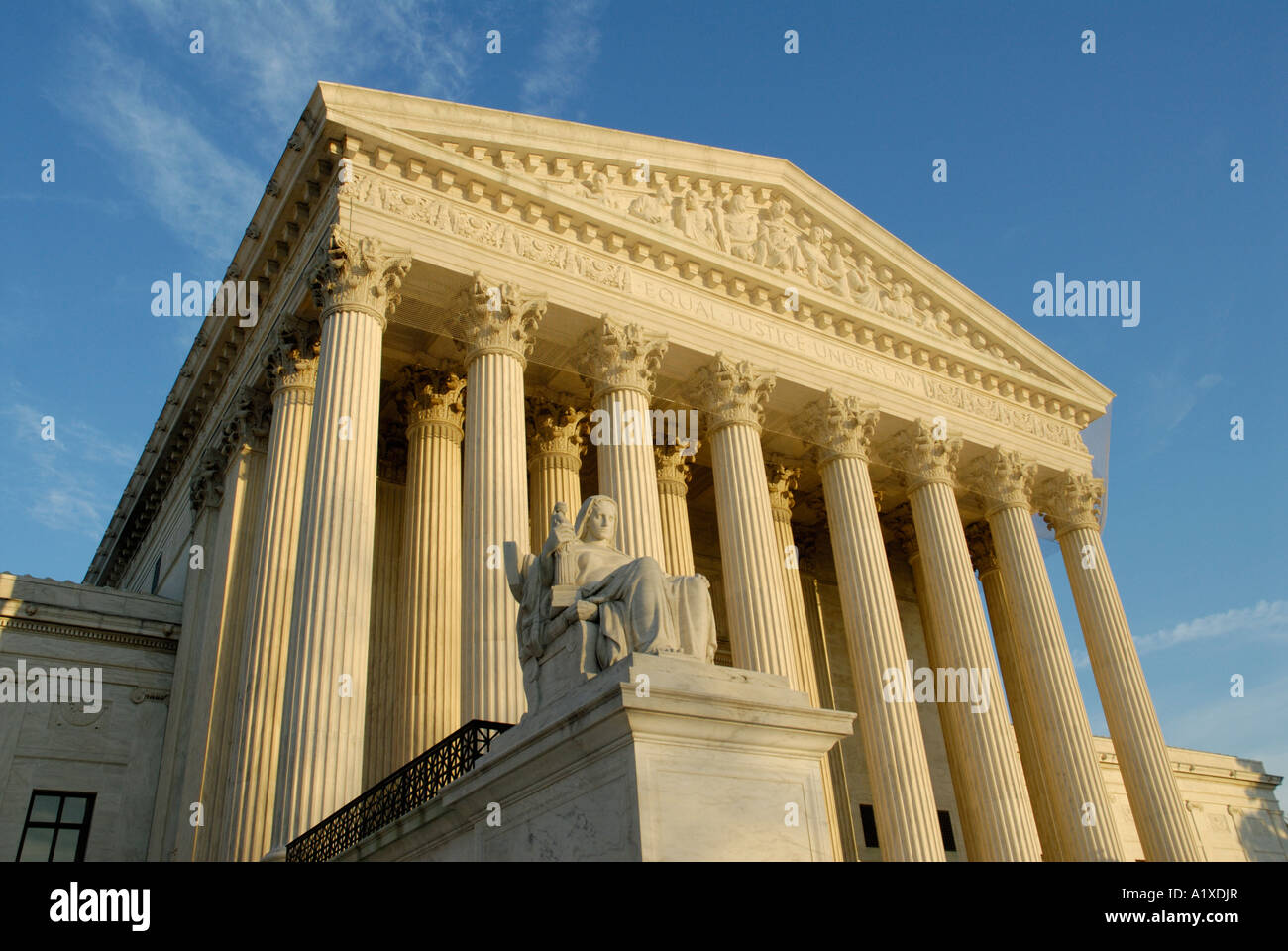 Contemplation of Justice statue, US United States Supreme Court Building - Stock Image
