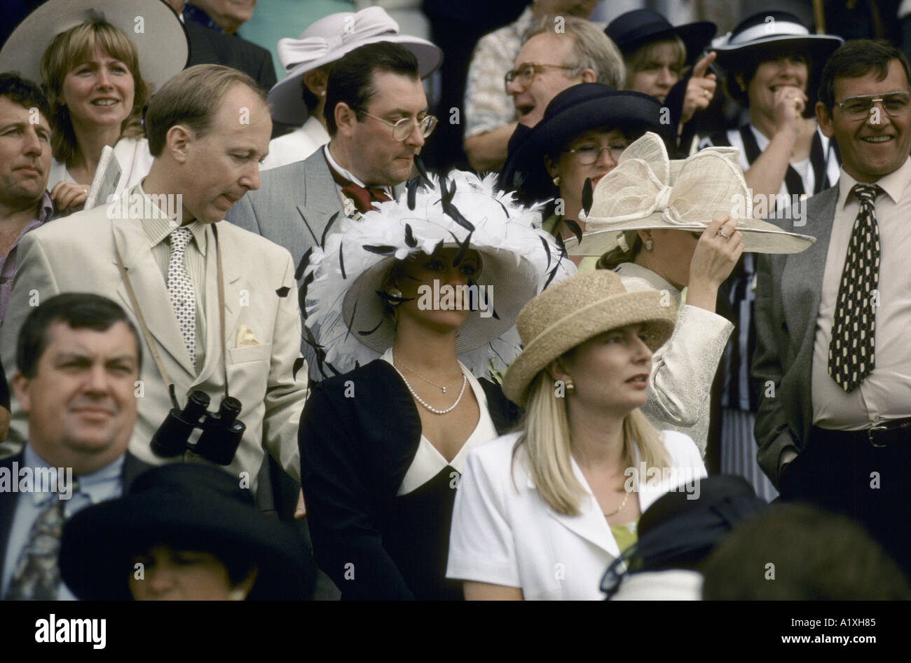 ROYAL ASCOT RACES LADIES DAY THE ENGLISH SOCIAL SEASON CROWD OF MEN AND  WOMEN WEARING HATS 193470220d9
