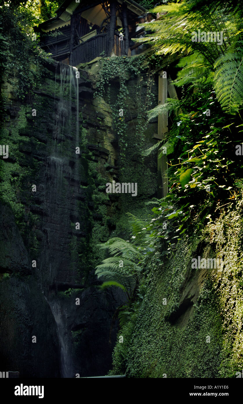 Shanklin Chine a natural gorge at Shanklin Isle of Wight Hampshire England UK - Stock Image