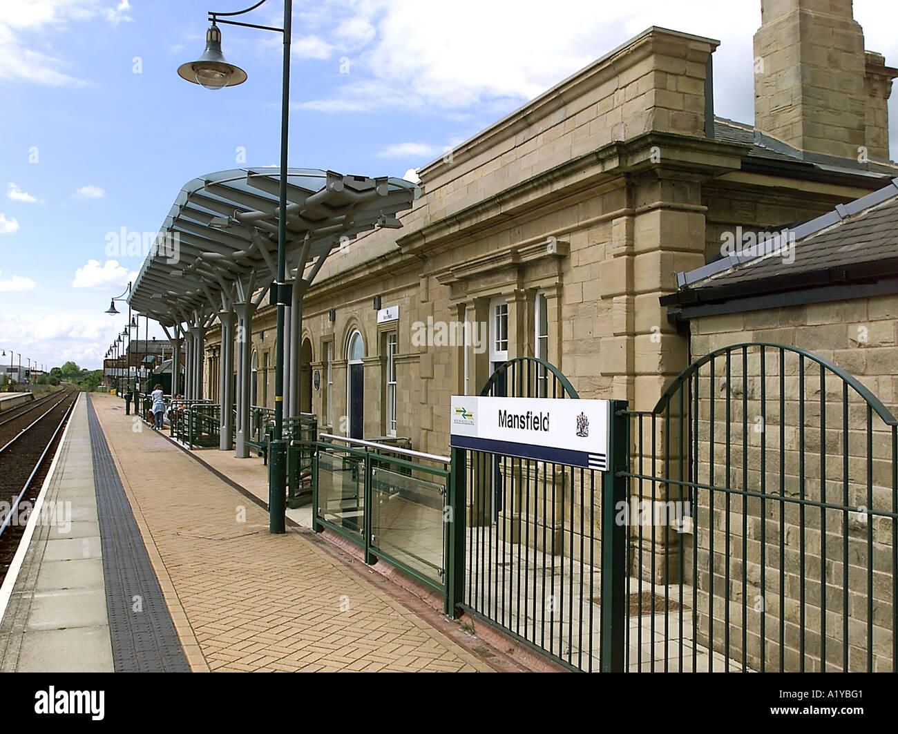 Mansfield station, Robin Hood Line, Nottinghamshire - Stock Image