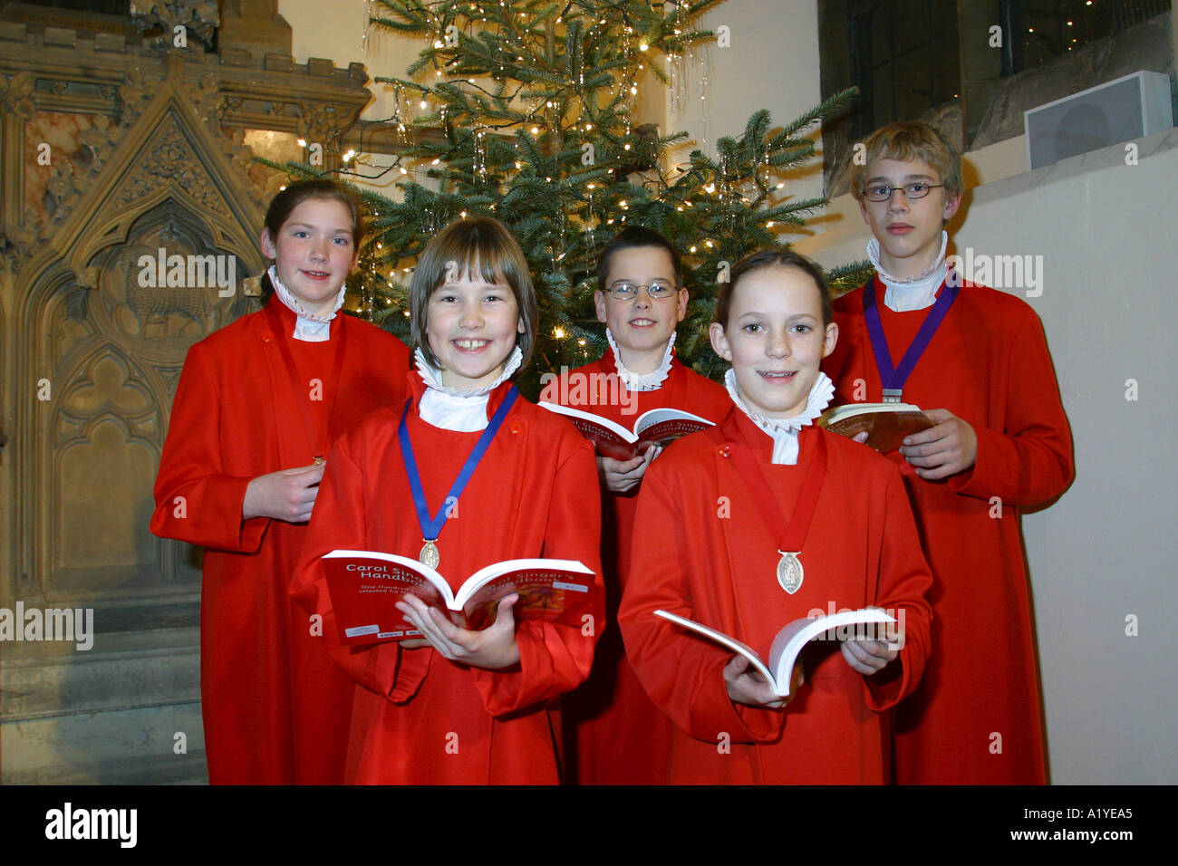 Mixed Choir of St Edward the Confessor Church Romford Essex - Stock Image