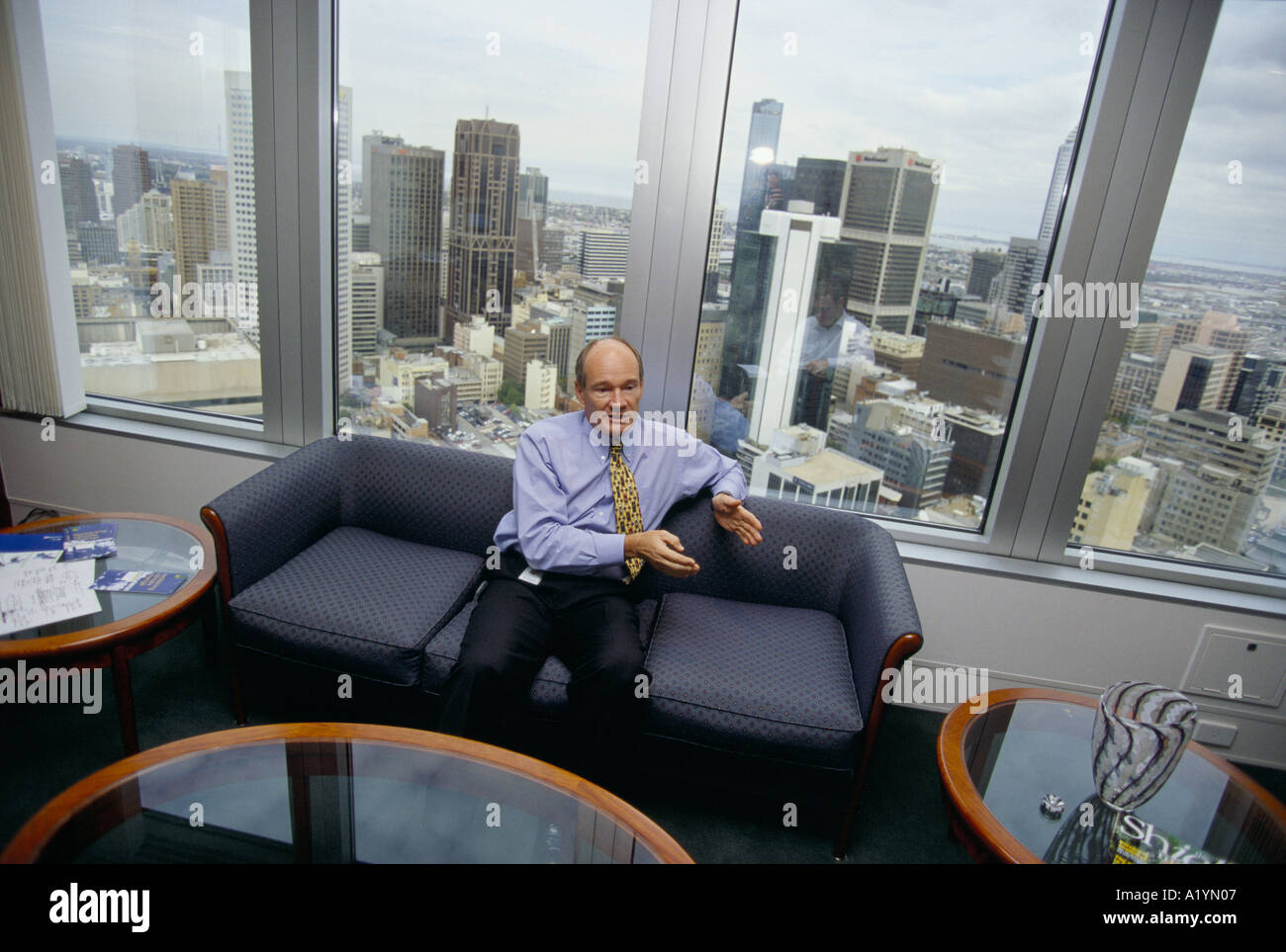 GREG BOURNE CEO BP MELBOURNE INTERVIEWED AT HIS OFFICE 2000 - Stock Image