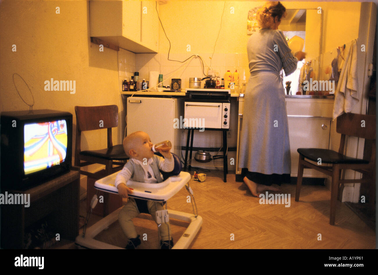 Homeless Family In B B Hotel London 1987 Stock Photo 3381856 Alamy