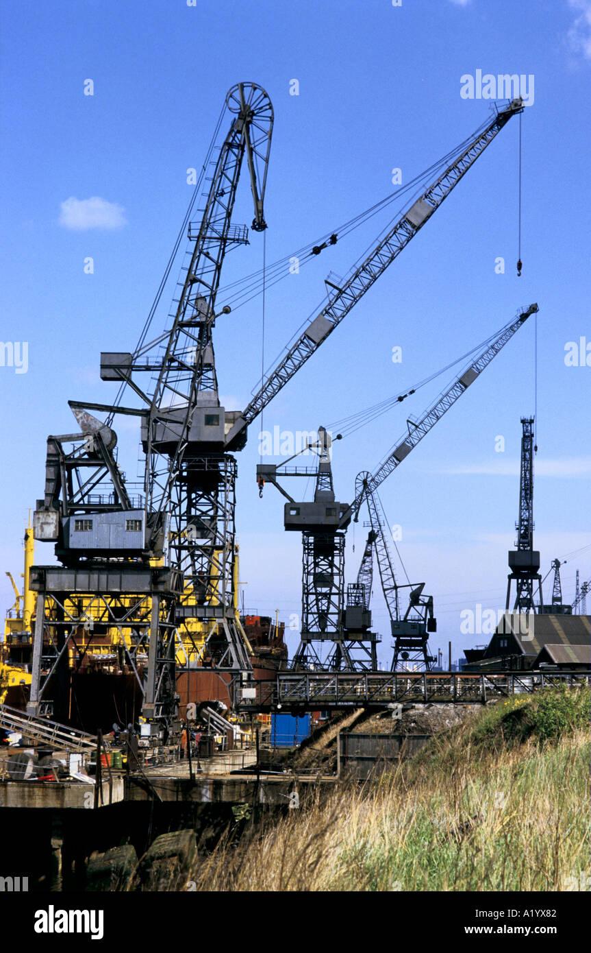 SMITHS DOCK SHIPBUILDERS TEESIDE - Stock Image