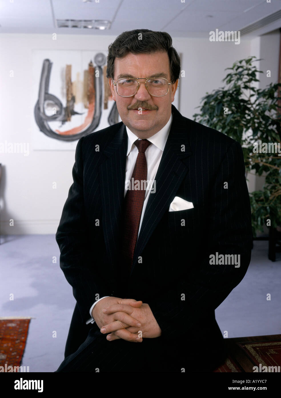 BRIAN SANDERSON CEO OF BP 1999 - Stock Image