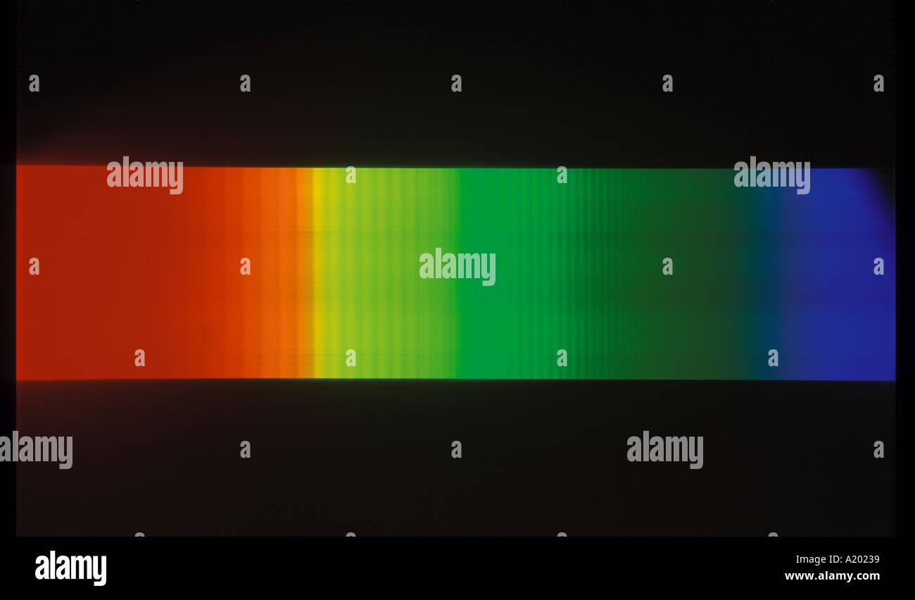 absorption spectrum of iodine - Stock Image