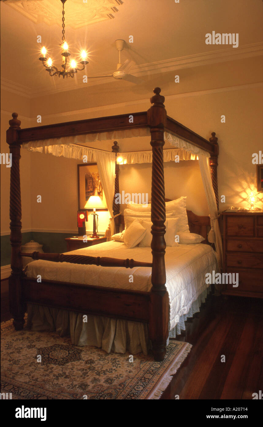 Four poster bed 2 - Stock Image