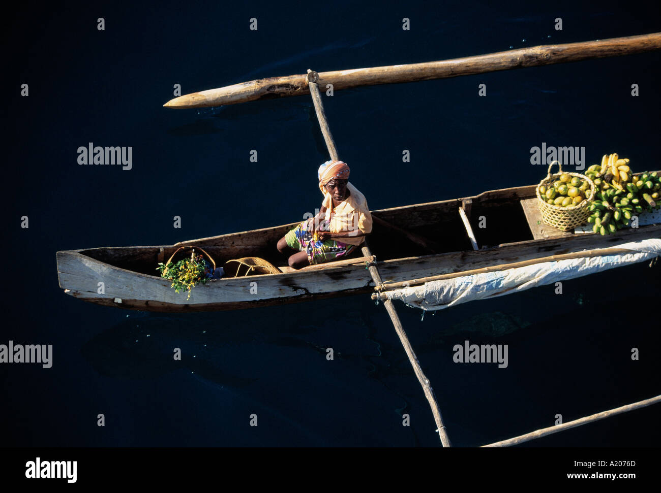 A local fishing boat - Stock Image