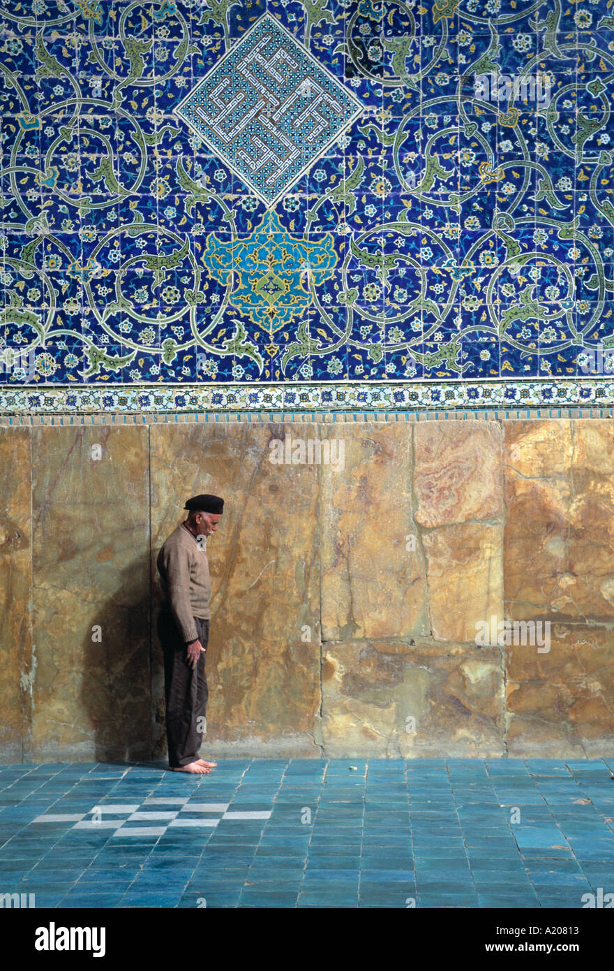Praying at the Masjed e Emam Esfahan - Stock Image