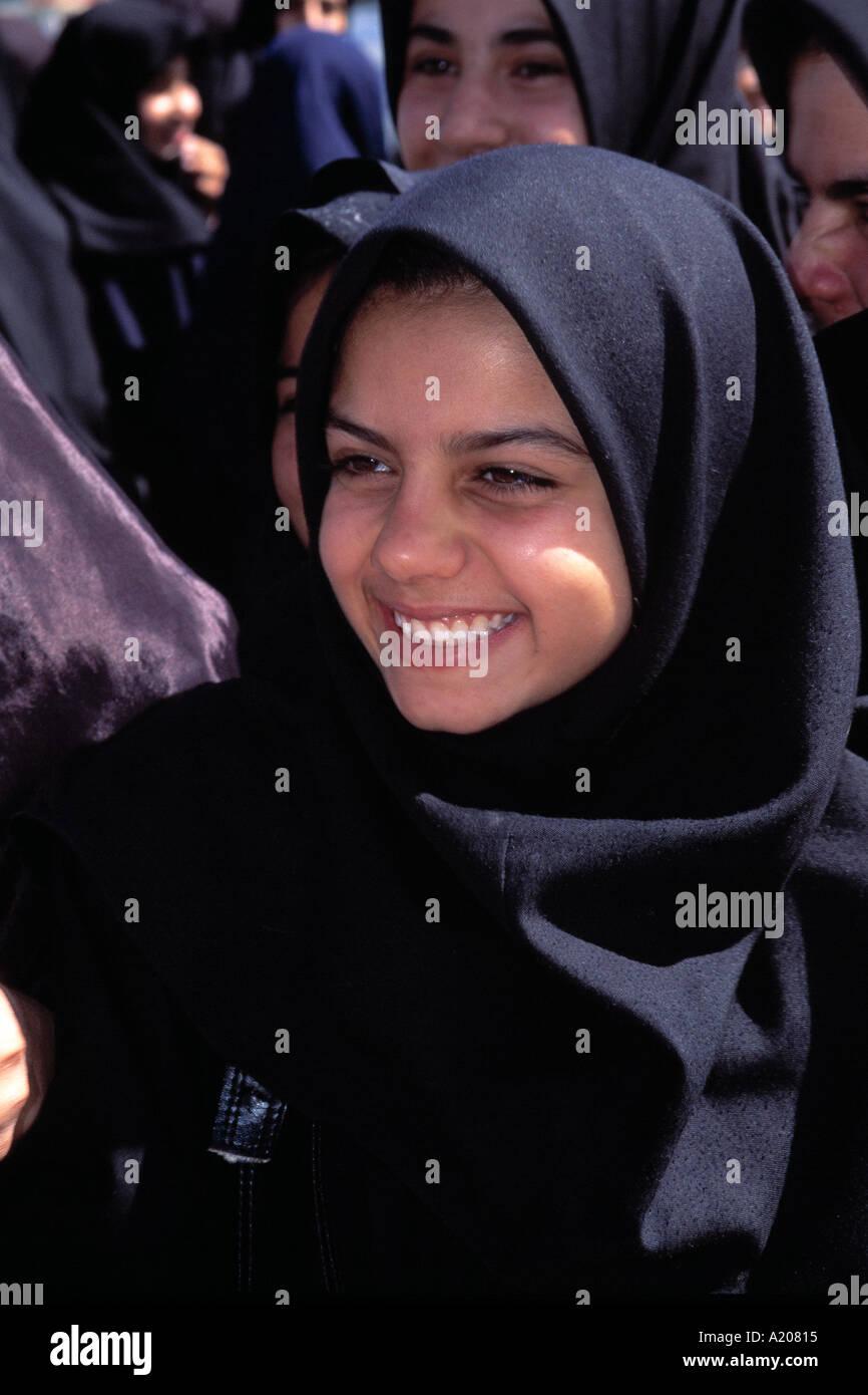 A Muslim Girl Shiraz - Stock Image