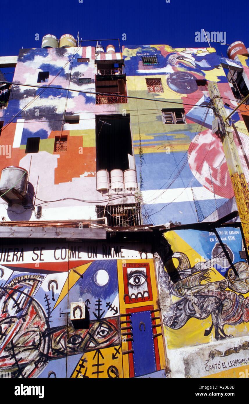 Callejon de Hammel Havana Cuba mural by Salvador Gonzalez - Stock Image