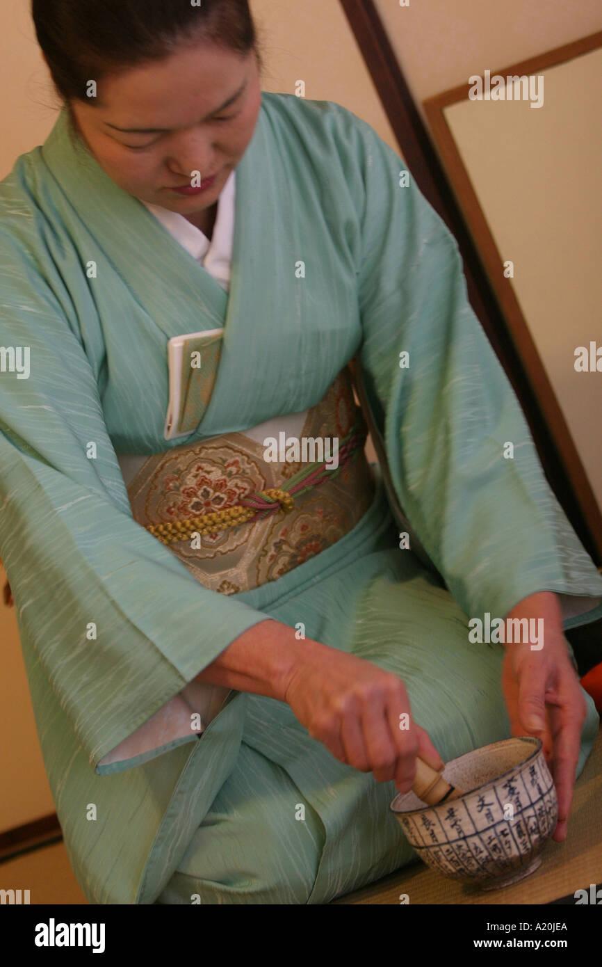 School teaching traditional art of tea ceremonies, Tokyo, Japan - Stock Image