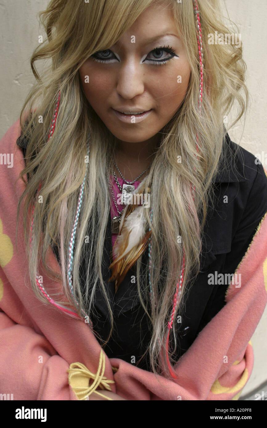 Ganguro Style Girl In Shibuya Tokyo Japan Stock Photo 3385079 Alamy
