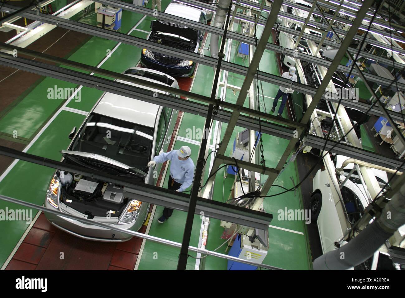 Toyota car production line, Tsutsumi factory, Toyota City, Nagoya, Japan - Stock Image