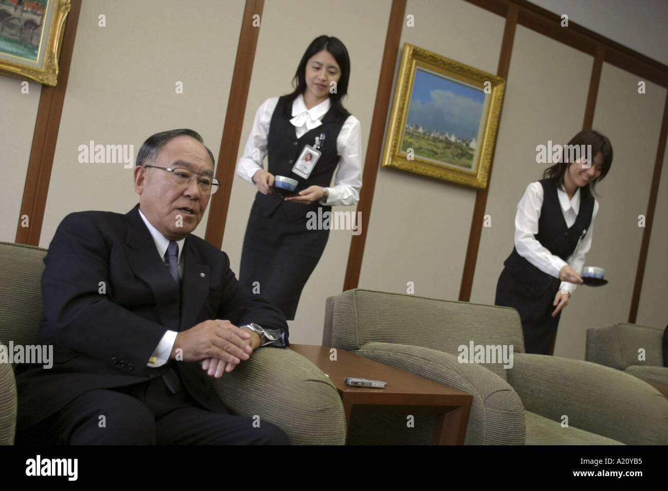 Fujio Mitarai President and CEO of Canon Inc one of the leading Japanese electronics and camera manufacturing companies - Stock Image