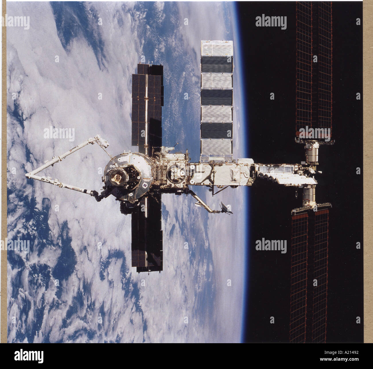 Space station ISS shows off new robot arm Photri - Stock Image