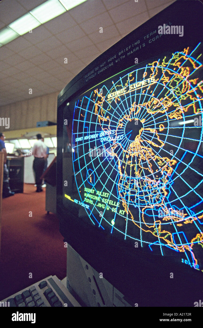 air traffic control weather map computer graphic Stock Photo
