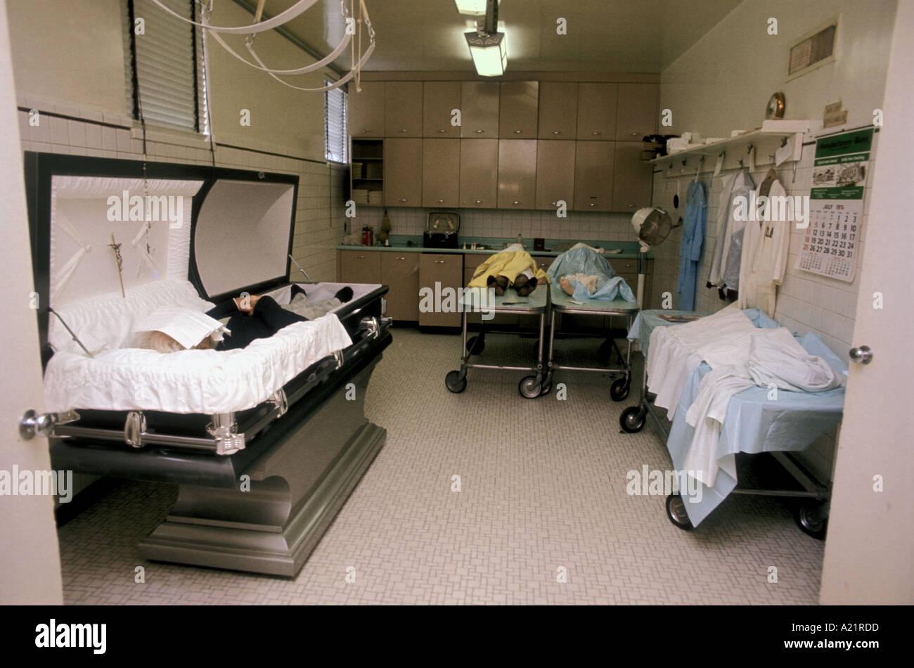 Mortuary in America - Stock Image
