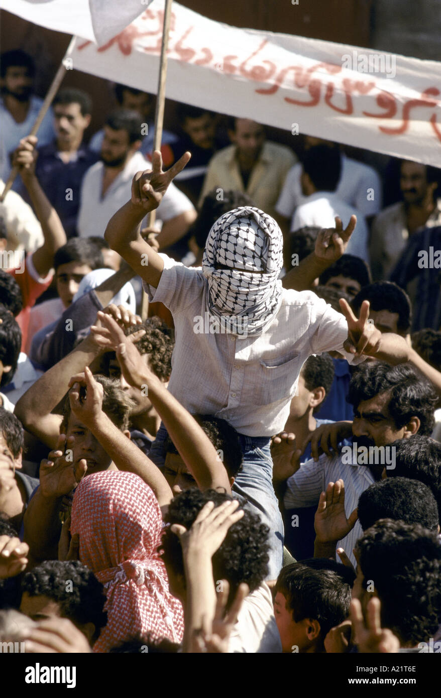 A Palestinian Intifada demonstration, Israel - Stock Image