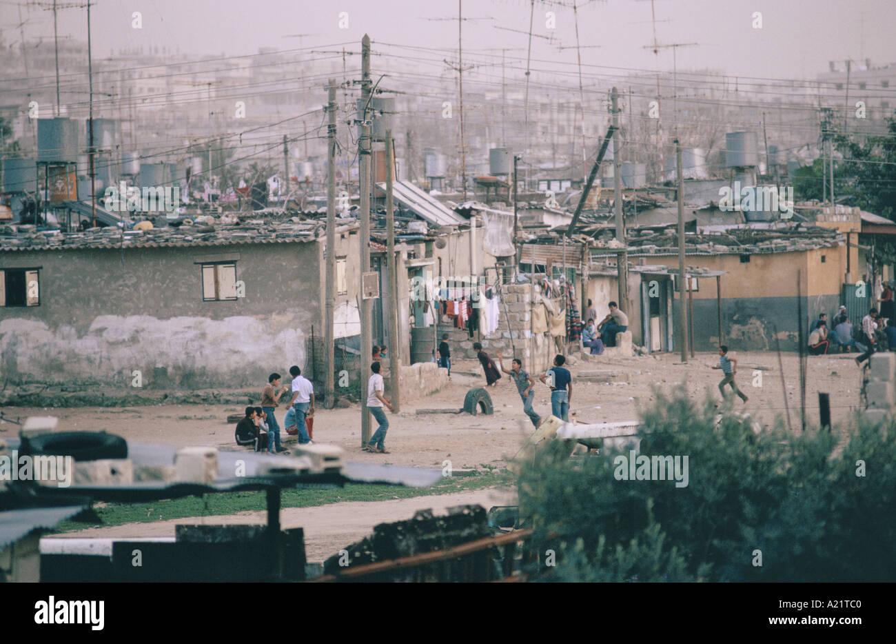 View of Jabalya Camp, Gaza,  Israeli  Occupied Territories 1987 - Stock Image