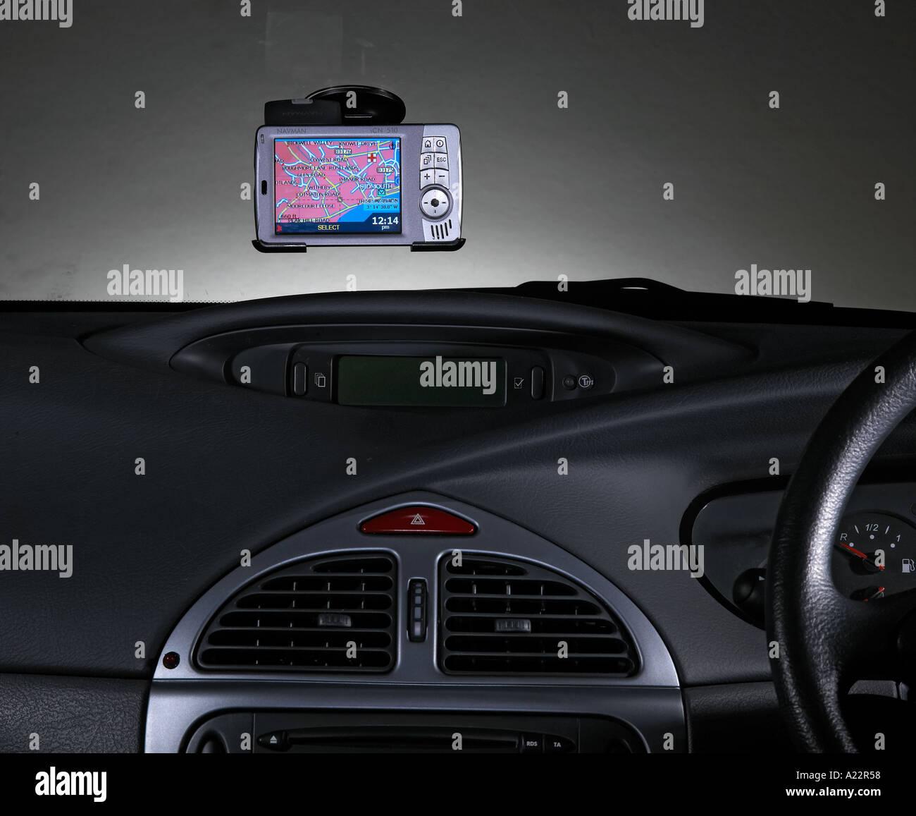 In car Satellite Navigation - Stock Image
