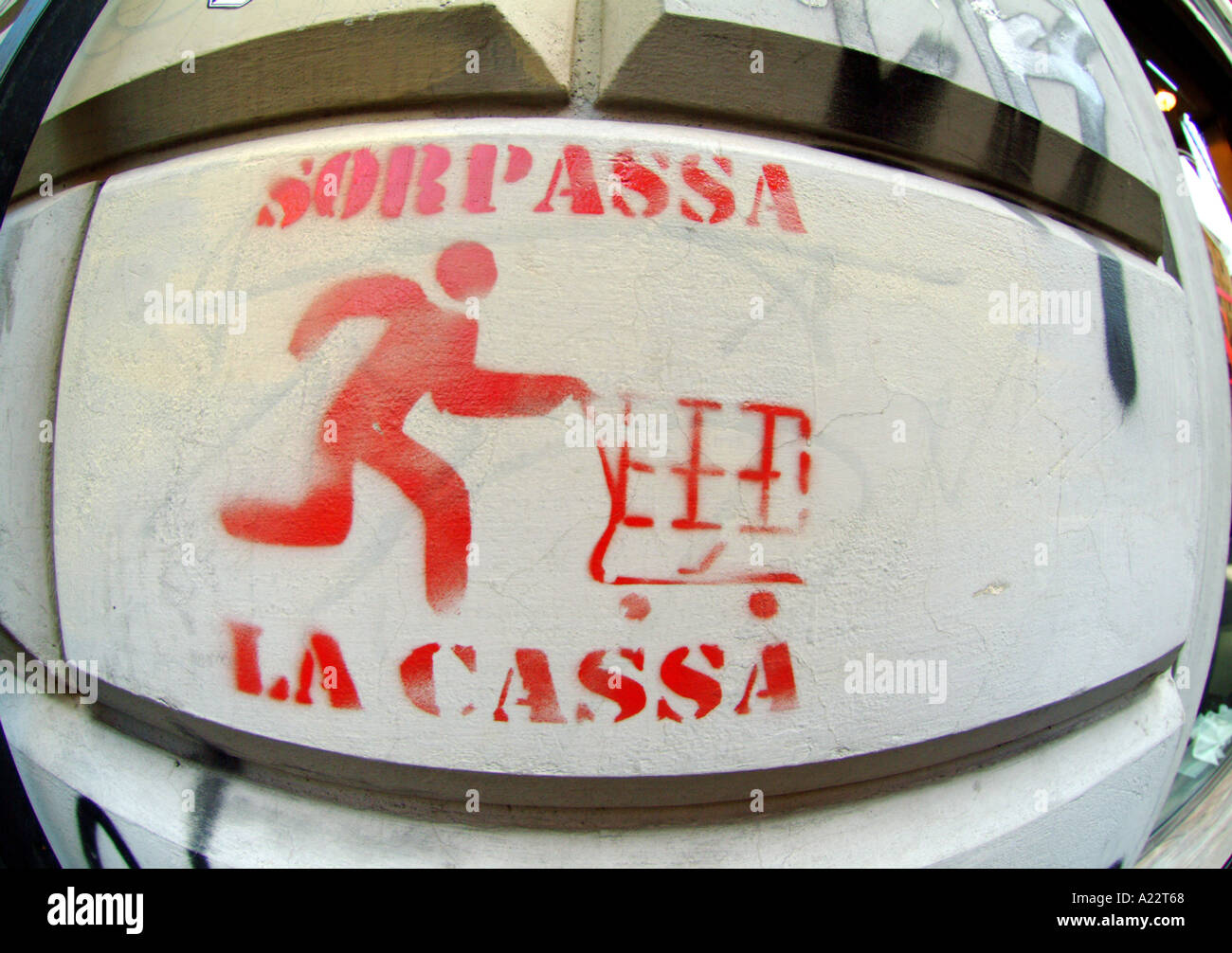 anti war graffiti rome italy Stock Photo