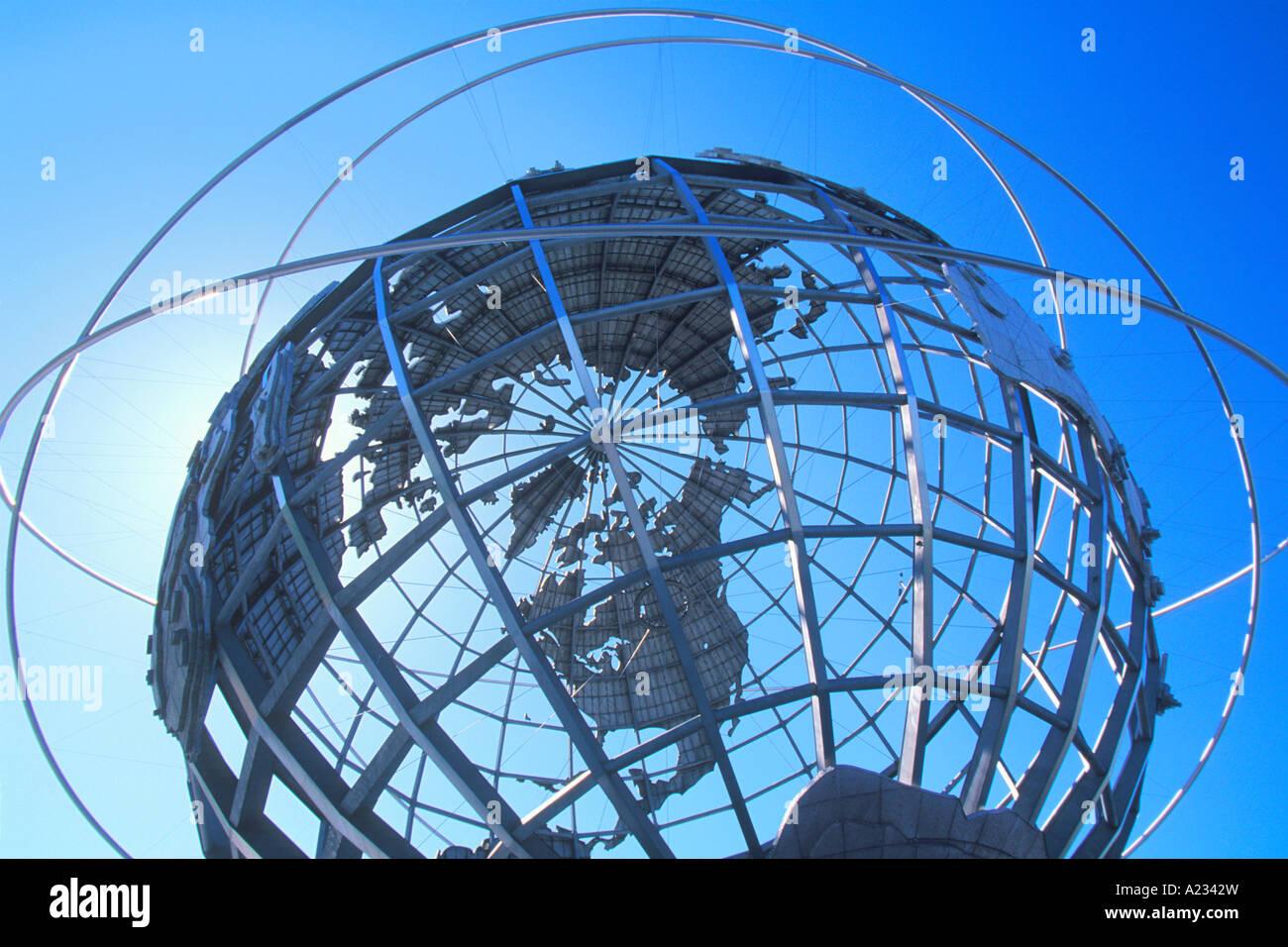 New York City  Borough of Queens Unisphere - Stock Image