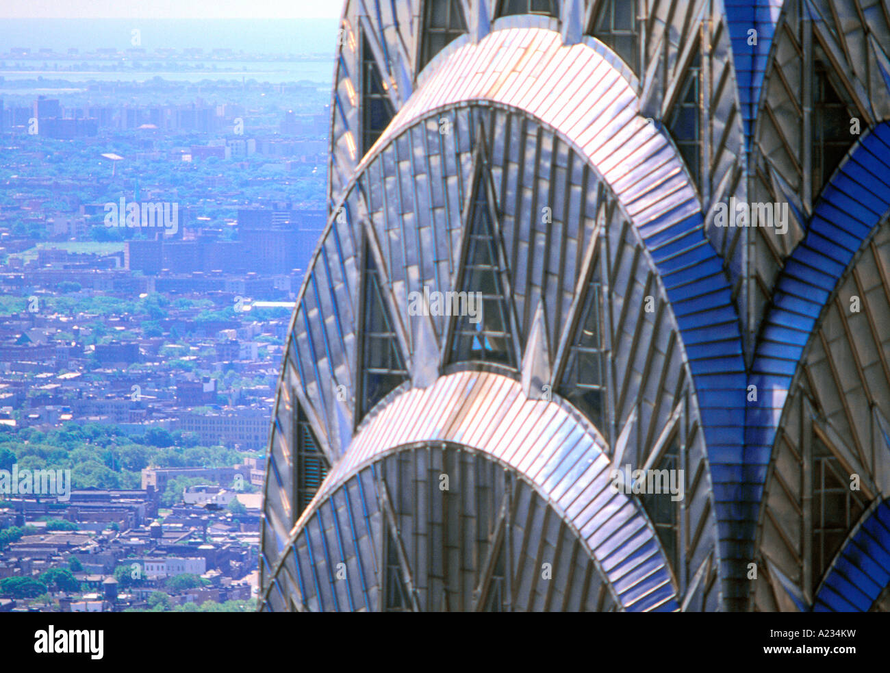 The Chrysler Building New York City Close Up Detail High Angle View Sandra Baker Stock Photo