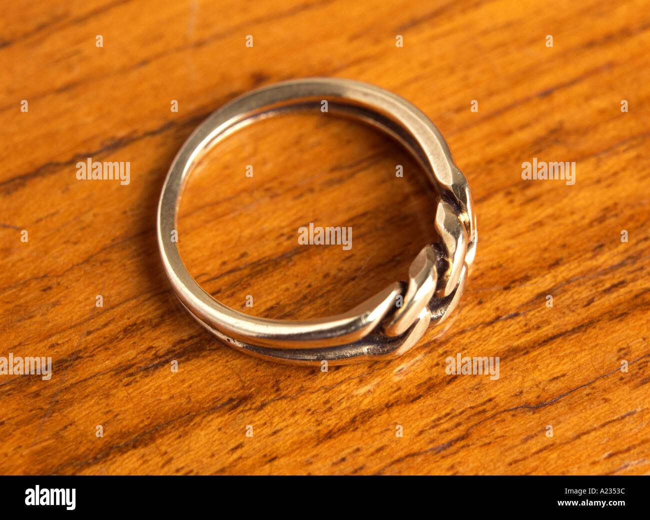 a gold ring - Stock Image