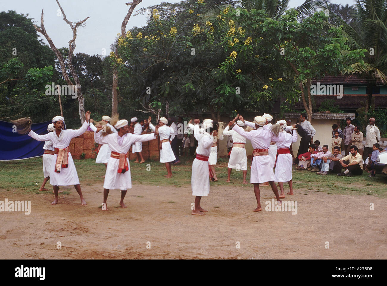 Animal parts used in the performing arts of sacred groves of Coorg Karnataka - Stock Image