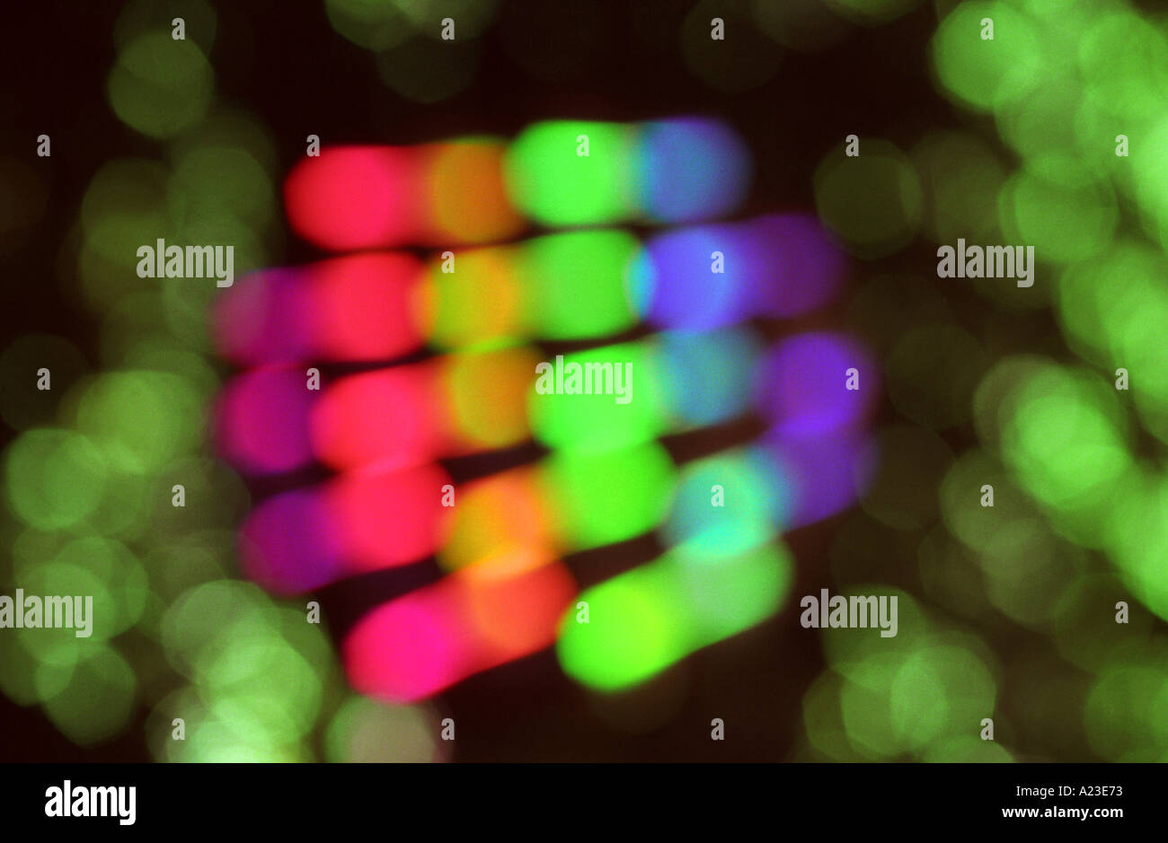 Light abstract showing colours of the spectrum - Stock Image