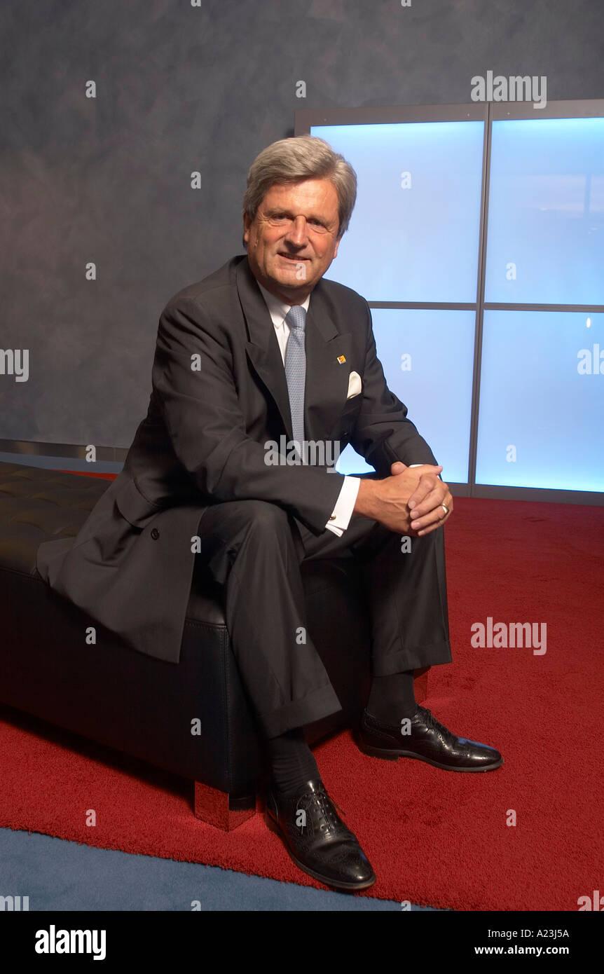 Wulf von Schimmelmann CEO of Deutsche Postbank AG - Stock Image