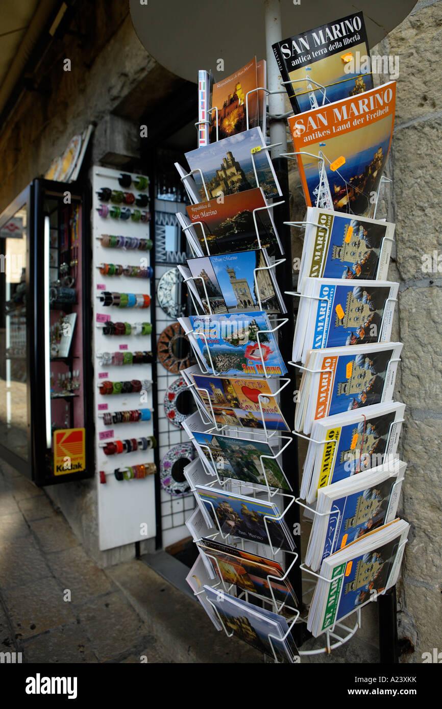 Picture Post Cards, San Marino, Emilia-Romagna, Italy. - Stock Image