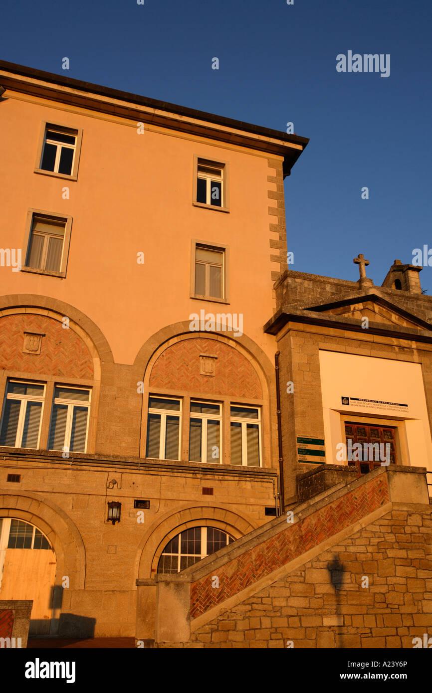 Gallery of Modern Art, San Marino, Emilia-Romagna, Italy. - Stock Image