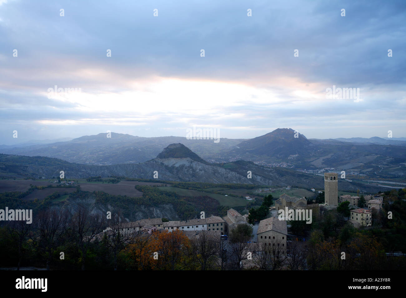View from Basilica del Santo, San Marino, Emilia-Romagna, Italy. - Stock Image