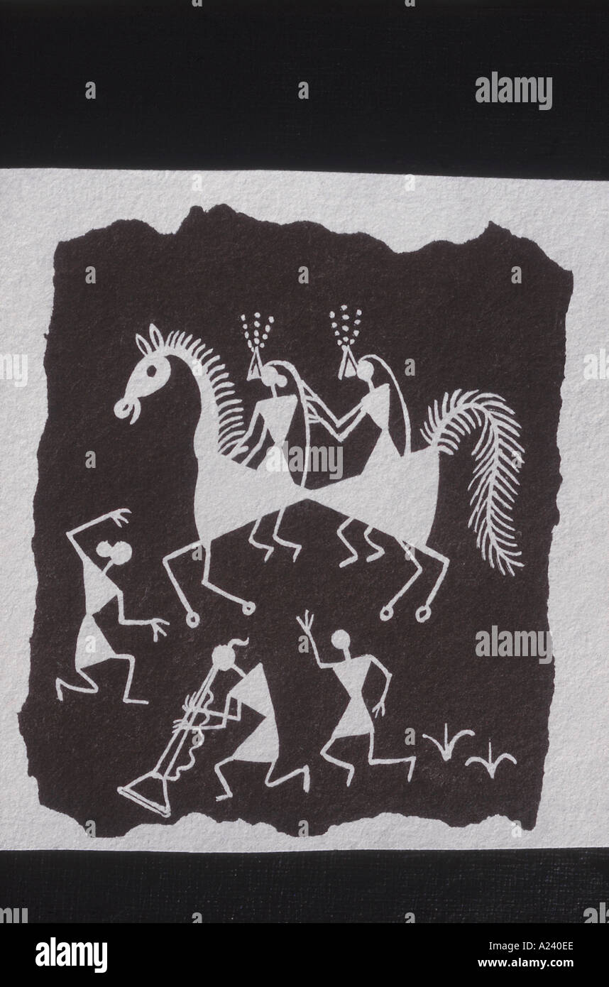 Warli Paintings One Of The Oldest Painting Styles Found In India Stock Photo Alamy