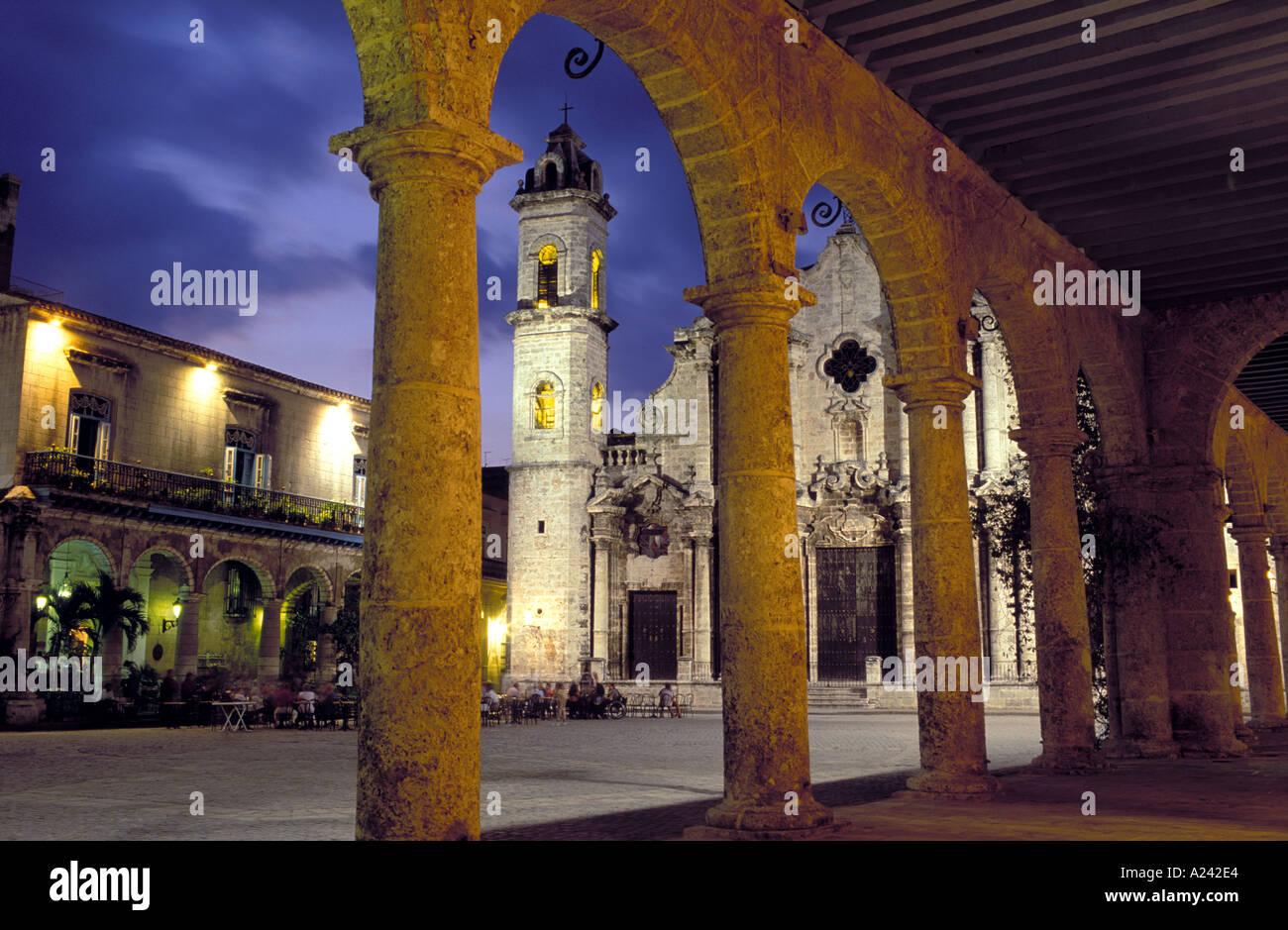 Cuba Havana Catedral de San Cristobal - Stock Image