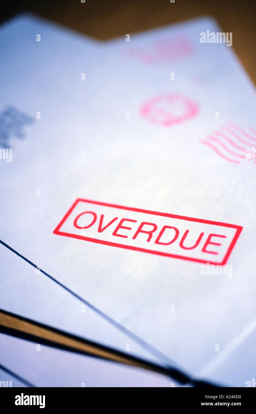 Overdue Letter - Stock Image