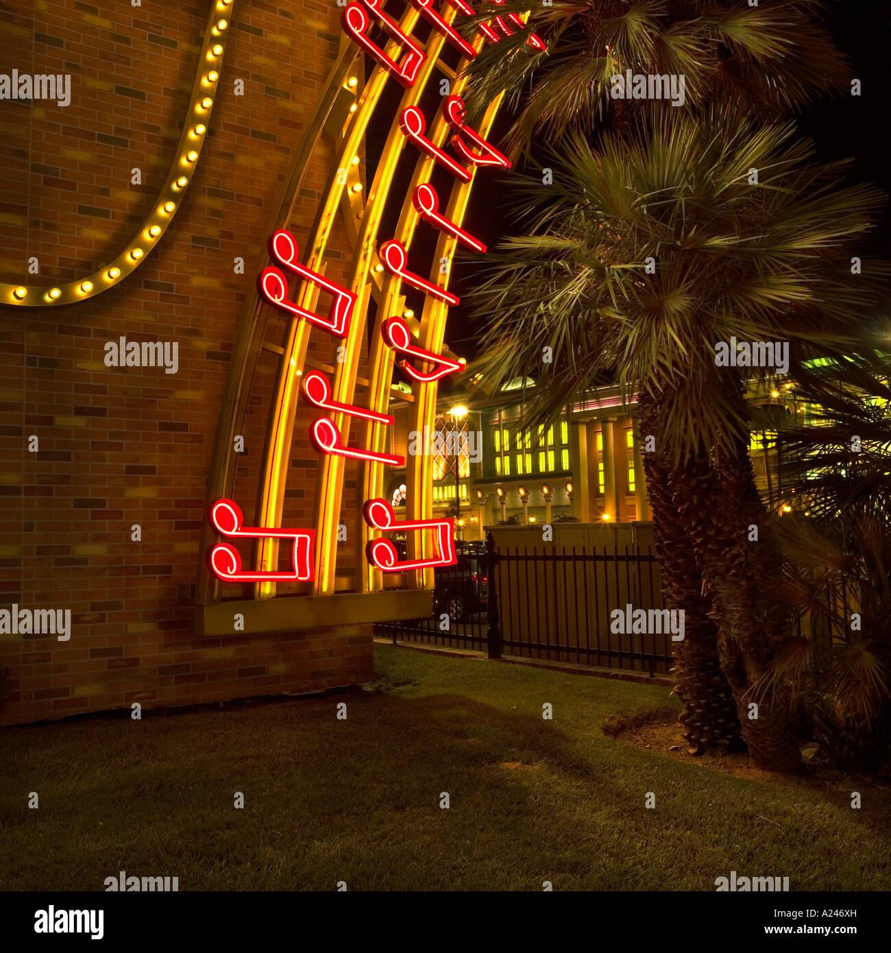 las vegas nv usa neon lighting music score notes melody stock photo