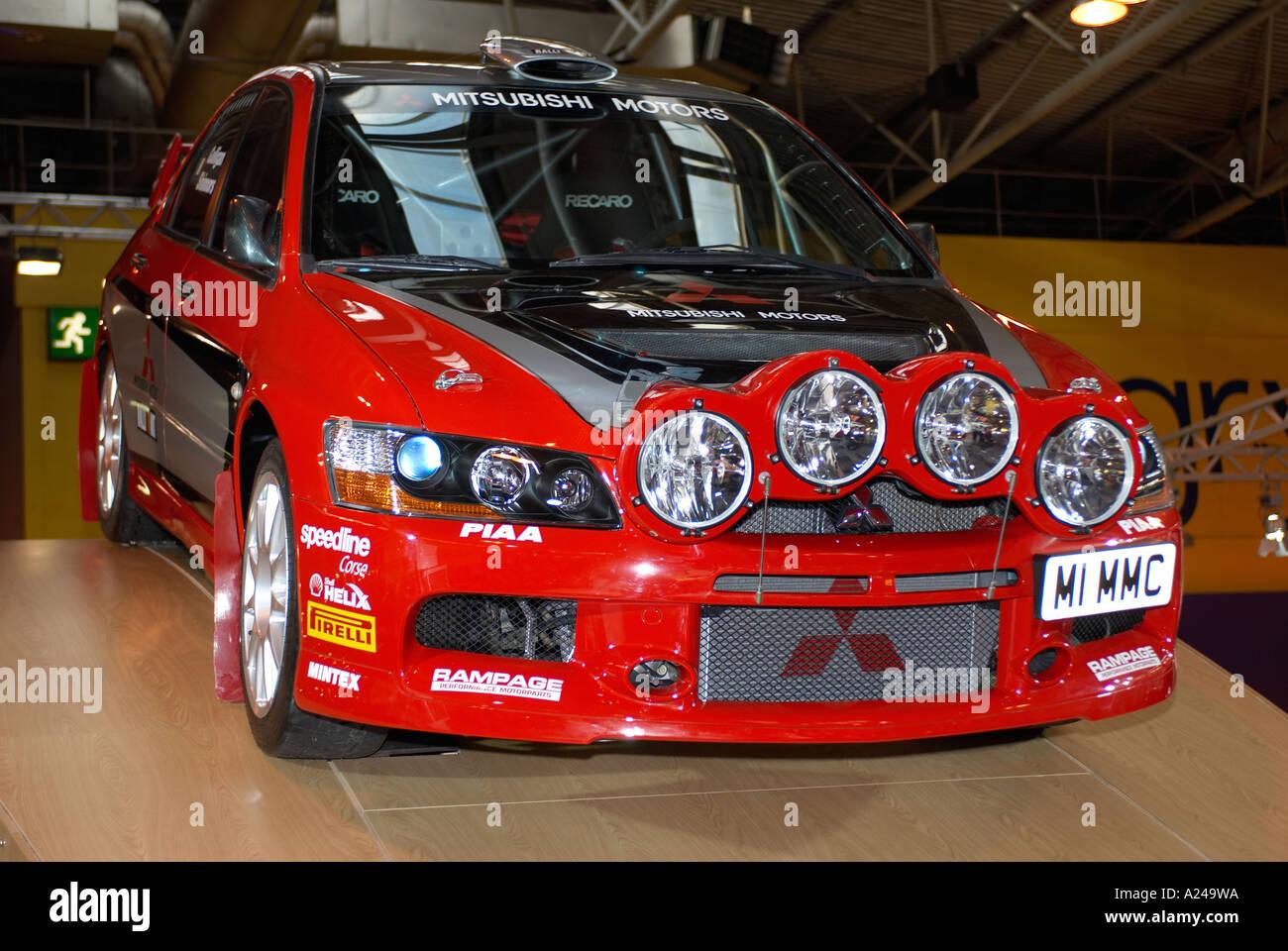 Mitsubishi Lancer Evo Rally Car Autosport Show 2006 Stock Photo