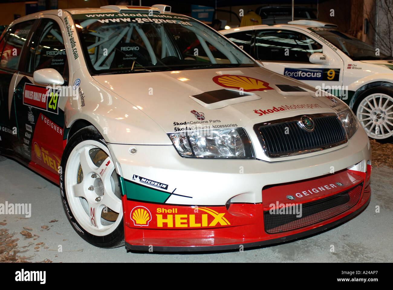 Skoda WRC World Rally Car pictured at the Autosport International ...