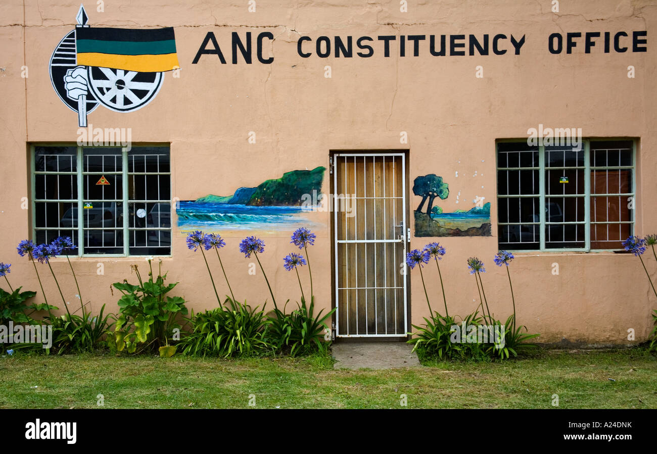 ANC local constituency office at Storms River Village South Africa - Stock Image