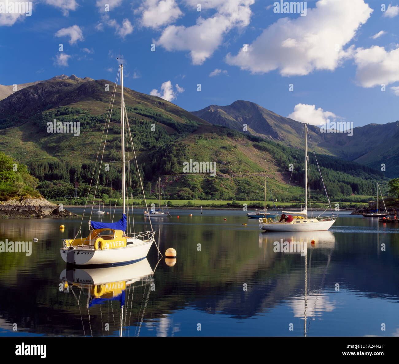 Bishops Bay on Loch Leven near North Ballachulish, Lochaber, Highland, Scotland, UK - Stock Image